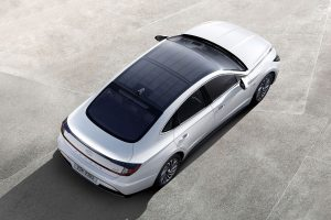 Hyundai launches its first car with solar roof charging system
