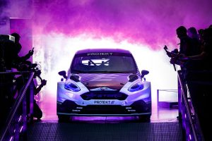 The future of rallycross revealed as the all electric Projekt E racecar is unveiled