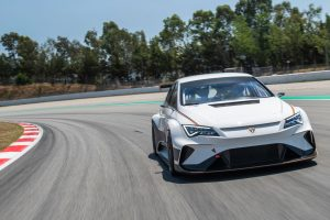 The world's first fully electric touring car, the CUPRA e-Racer, hits the track